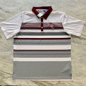ADIDAS Texas A&M University Climacool Polo Shirt